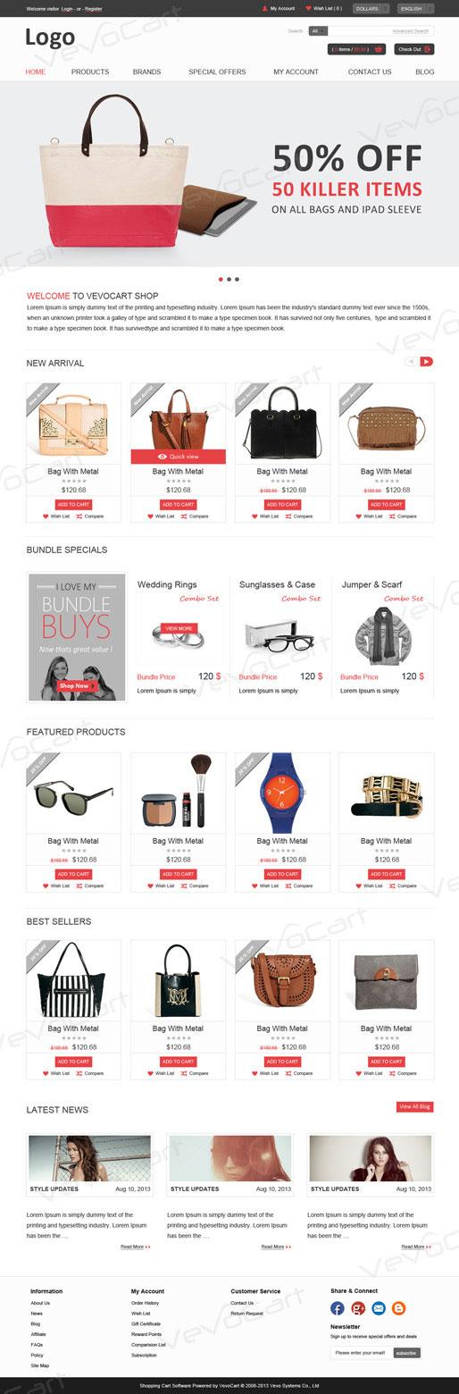 Templates Asp Shopping Cart Ecommerce Software Vevocart